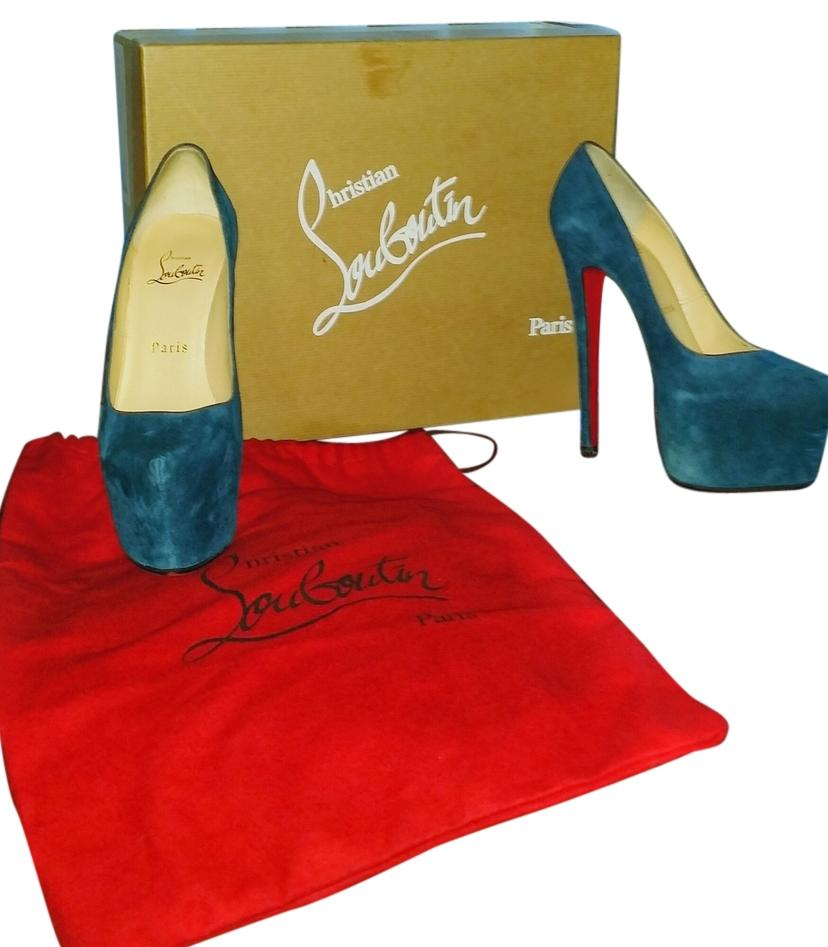 Christian Louboutin Blue Daffodils 160 Pumps Size US 6