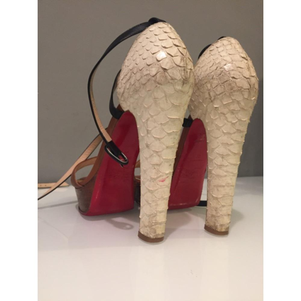 3157f669a ... Christian Christian Christian Louboutin Brown Black and White.  Summerissima Platforms Size US 7.5 Regular (