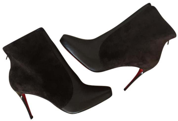 Christian Louboutin Brown Classic Gaetanina 100mm Suede Leather Ankle Sz. Euro Boots/Booties Size EU 39 (Approx. US 9) Regular (M, B)