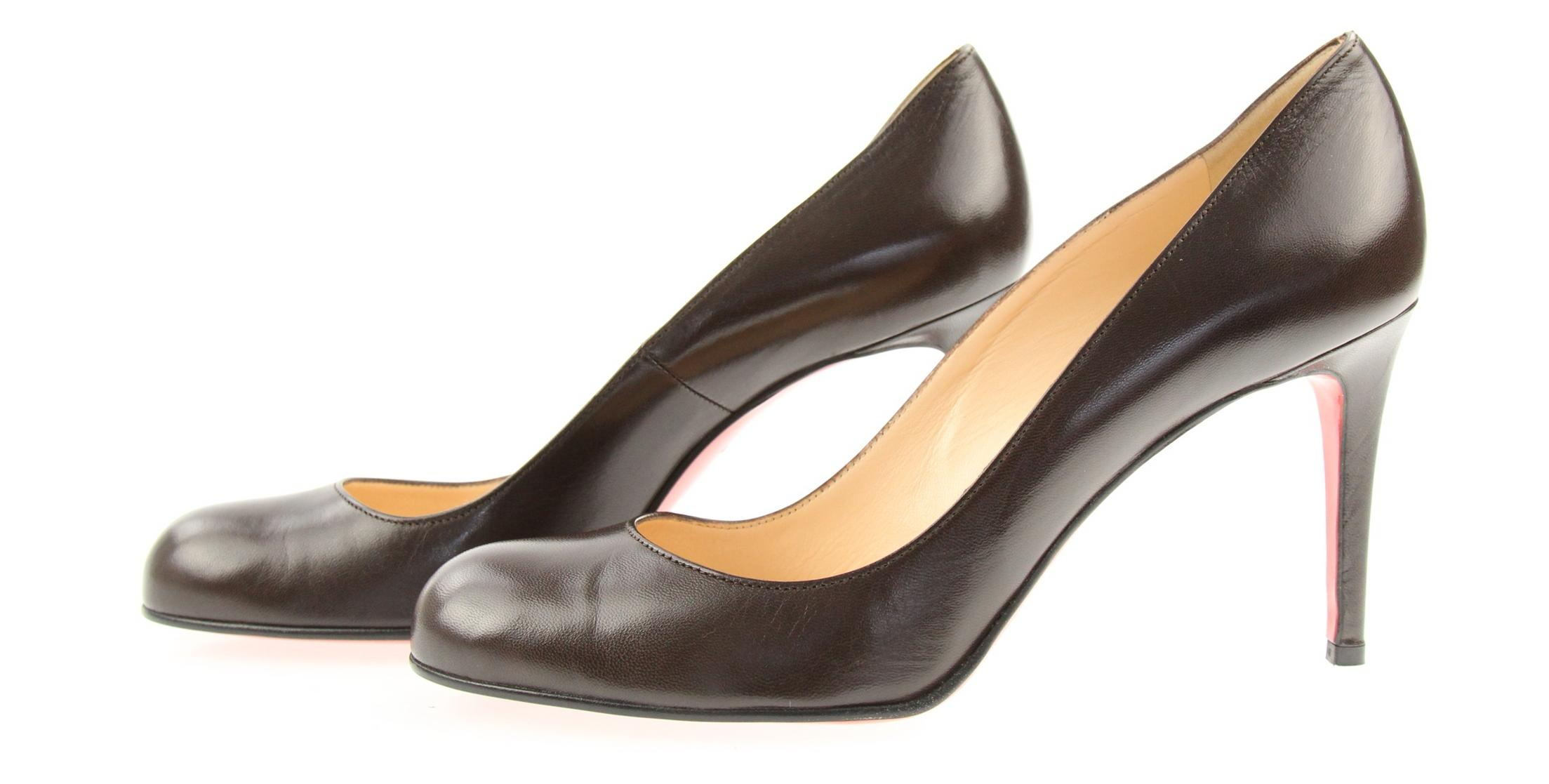273628ae80c5 US 11 Christian Louboutin Brown Brown Brown Simple 85 Pumps Size EU 41  (Approx.