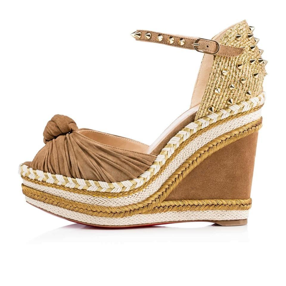 Christian Louboutin Suede Espadrille Wedges cheap sale footlocker finishline clearance big sale WGhrS7H