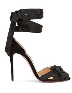 Christian Louboutin Christeriva Lace-up 100mm 4 Inch Heel New black Sandals