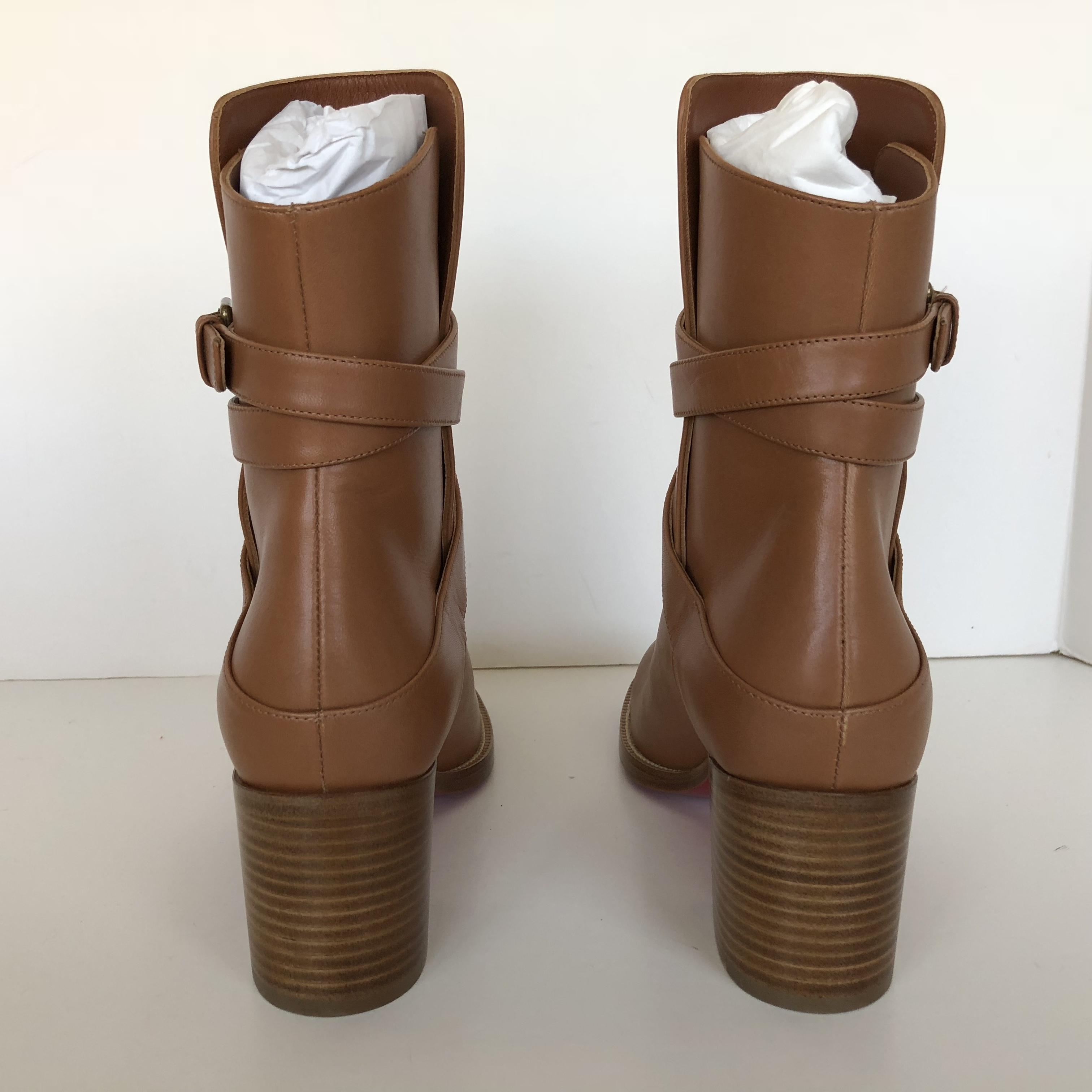 92f31597a38e ... Christian Louboutin Cuoio Karistrap 70 Calf Leather Ankle Boots Booties  Size Size Size EU 36.5 ...