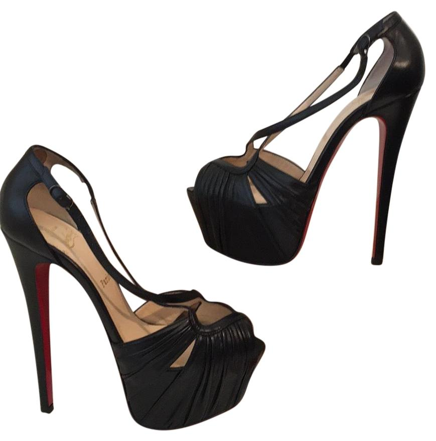 07eb3a189049 Christian Louboutin Divinoche Platform Platform Platform Leather 39.5 Pumps  Size US 8.5 Regular (M