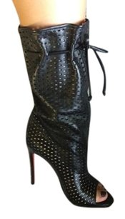 Christian Louboutin Jennifer Mid Calf Toe Black Boots