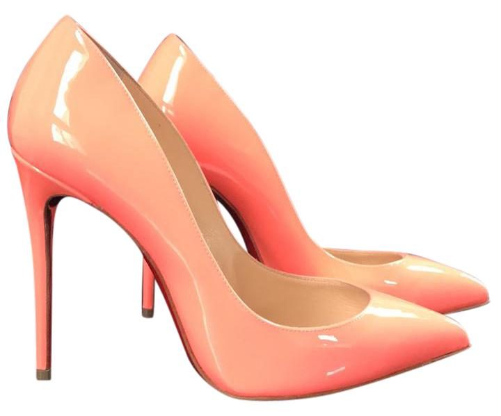 Christian Louboutin Flamingo Pigalle Follies Patent Leather Stiletto Pumps Size EU 35 (Approx. US 5) Regular (M, B)