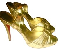 Christian Louboutin French Luxury Designer gold Sandals