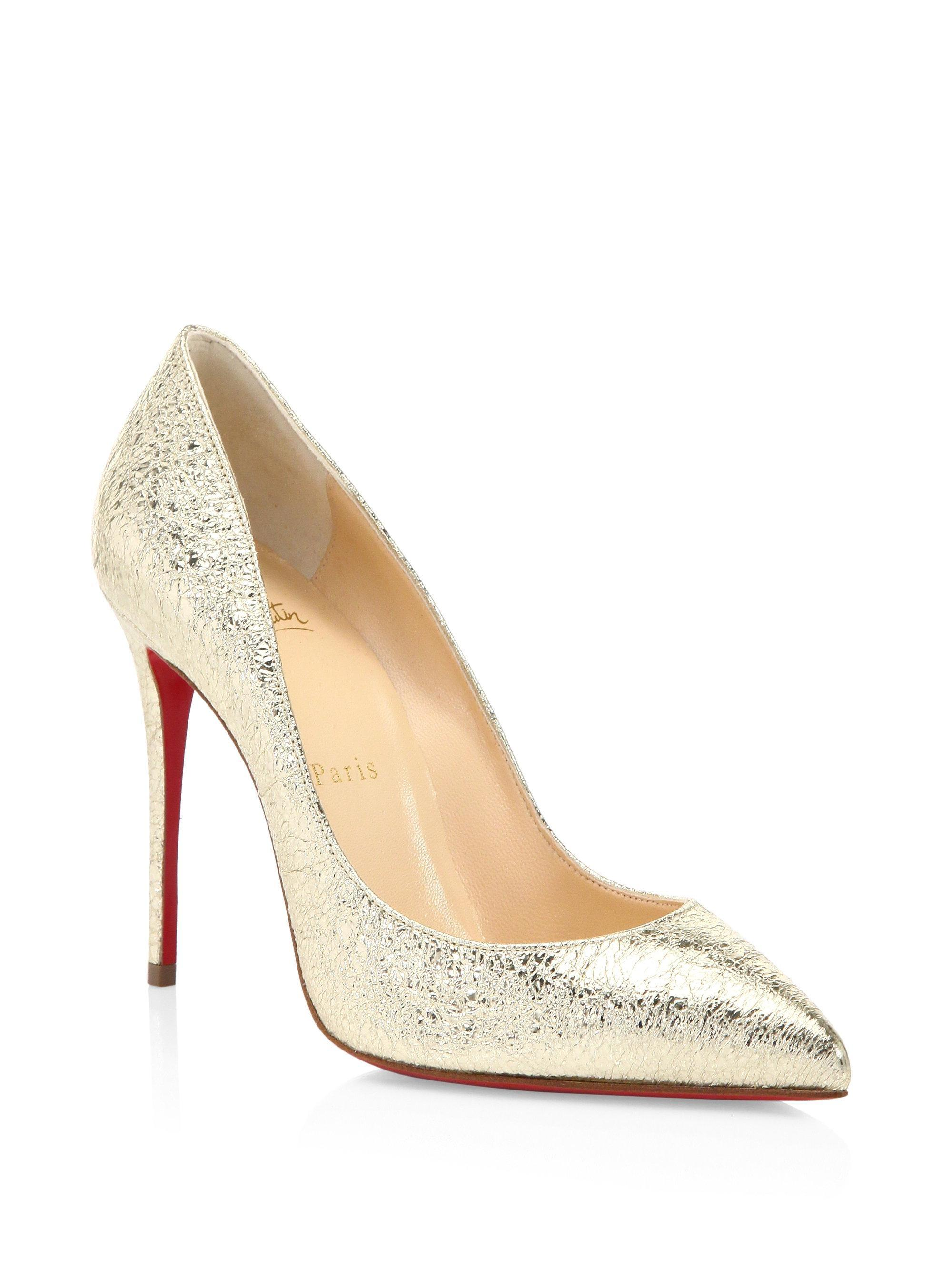 on sale 3758b 53f6c Christian Louboutin Gold Classic Pigalle Follies Follies ...
