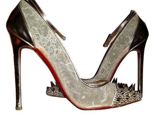 631ca85cf68 Christian Louboutin Gold Picks and Co Pumps Size US 8.5 8.5 8.5 dfcdf4