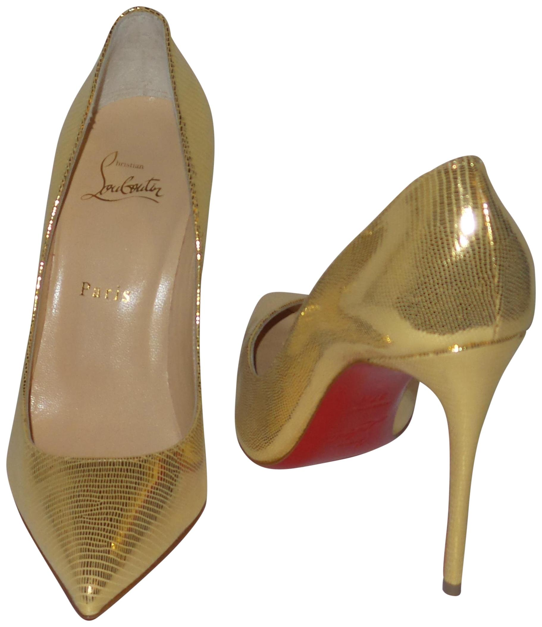 the best attitude 843dd 49979 Christian Louboutin Louboutin Louboutin Gold Pigalle Follies ...