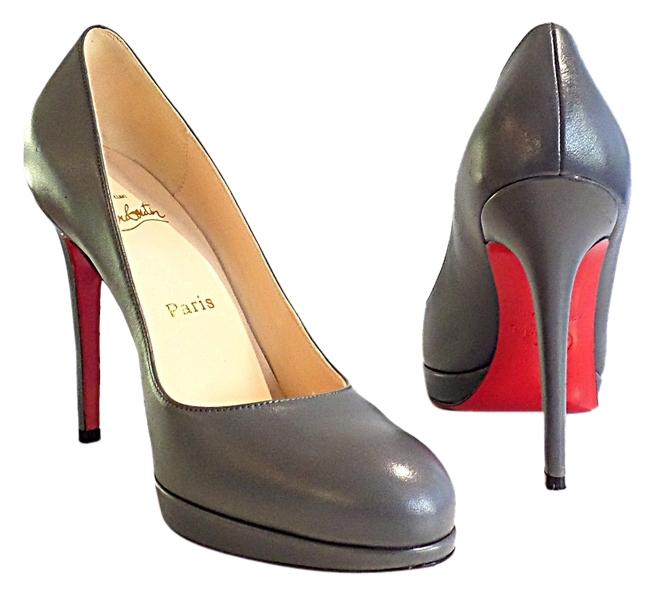 Christian Louboutin Grey New Simple 120 Pumps Size US 9 Regular (M, B)