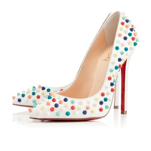 Christian Louboutin High Stilletto Leather 120mm Multicolor Pumps