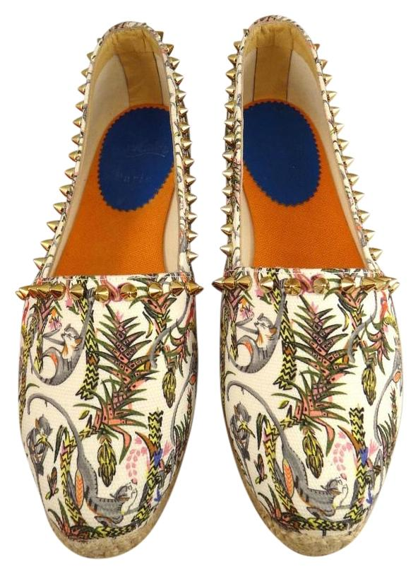 Christian Louboutin Jungle Monkey Print Ares Espadrille Sneakers Size US 11 Regular (M, B)