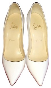 Christian Louboutin Kid Leather So Kates White Pumps