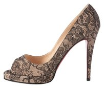 Christian Louboutin Lace Peep Toe Lb.j0825.12 Pumps