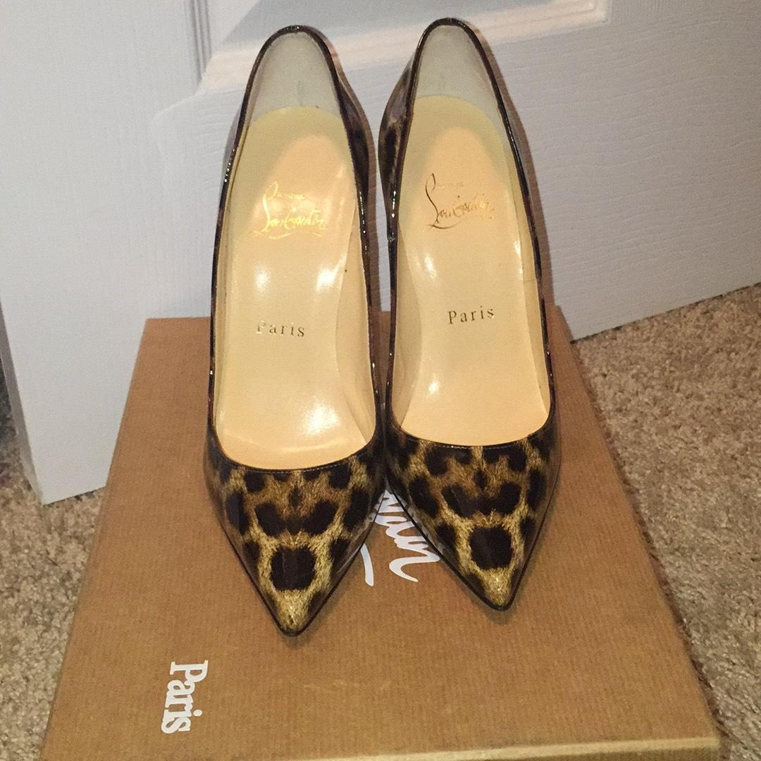 christian taille louboutin léopard taille christian 6 pompes étroites (aa, n) 0ff98f