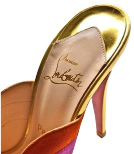 Christian Louboutin Loubs Suede Gold Spring Mule Multicolor Mules