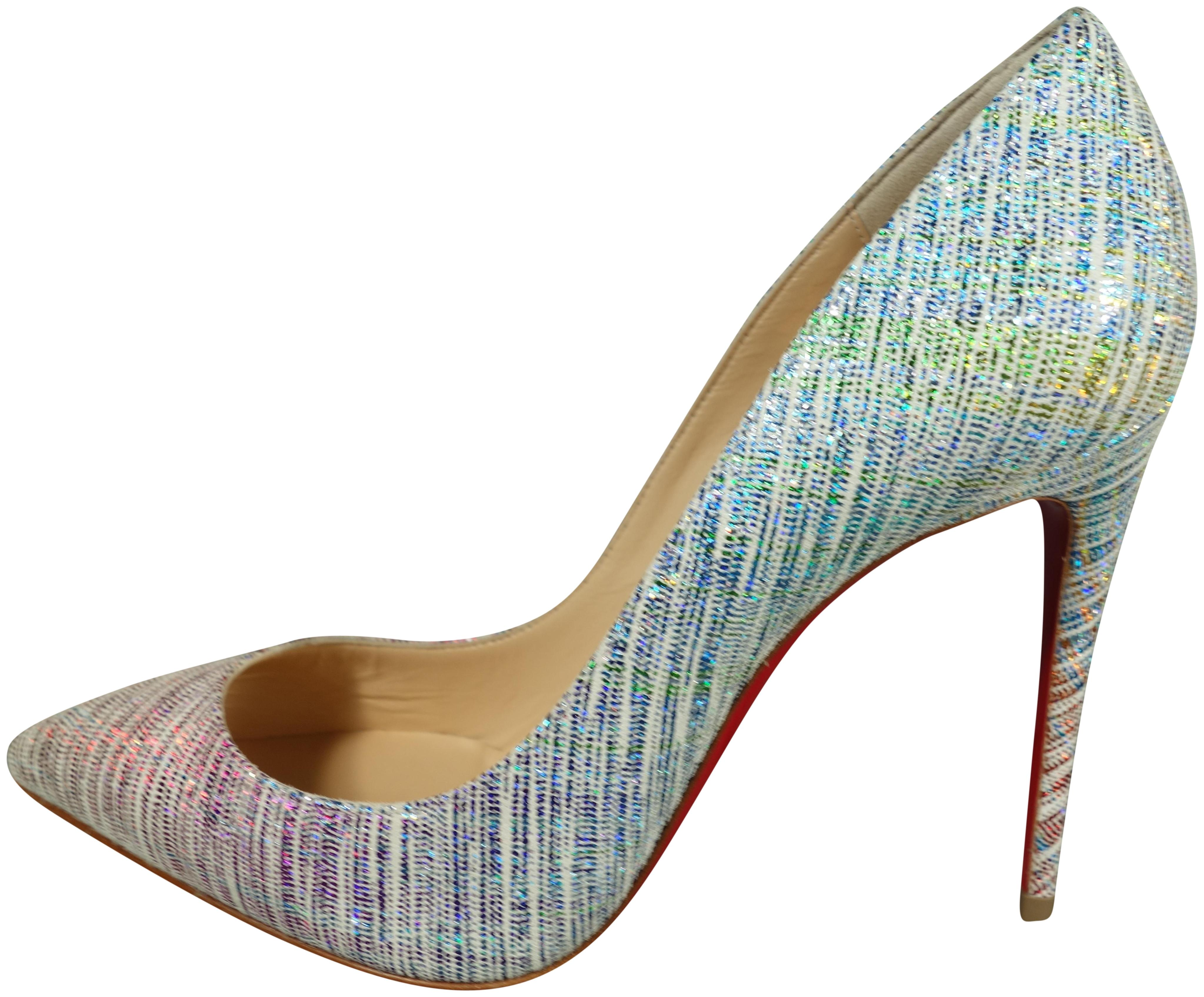 Christian Louboutin Multi- Colored Pigalle Follies 100 Suede Unicorn Point Toe High New Pumps Size EU 36.5 (Approx. US 6.5) Regular (M, B)