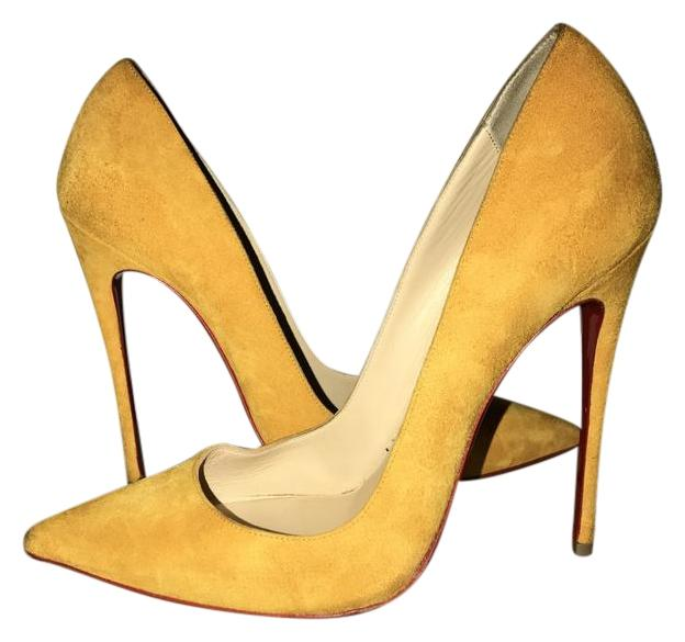 Christian So Louboutin Mustard So Christian Kate Pumps Size EU 39 (Approx. US 9) Regular (M, B) eb9671