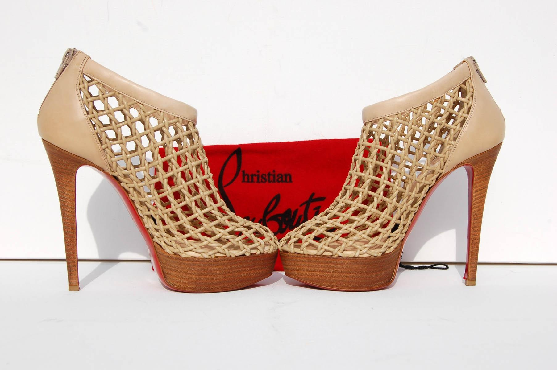 new product b06ee b9fff where to buy christian louboutin coussin caged ankle boots ...