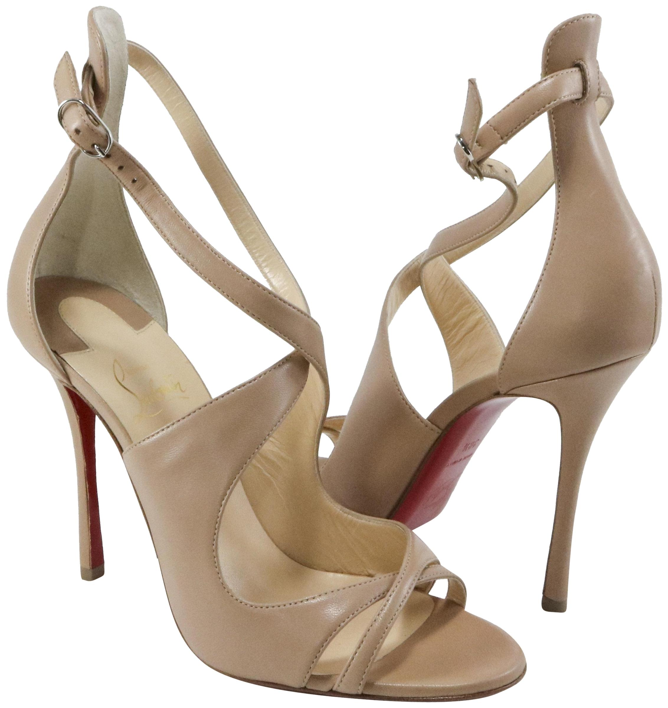 competitive price dcd8f 9db0c Christian Louboutin Nude Nude Nude Malefissima 100mm Strappy ...