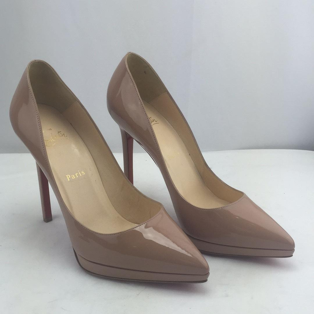 abc37914e8f2 ... Christian Louboutin Nude Pigalle Plato Pointy Toe Toe Toe Pumps Size US  10 Regular (M ...