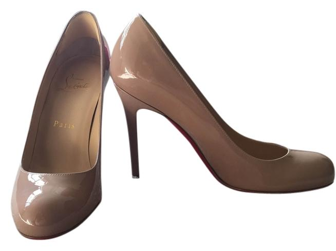 Christian Louboutin Nude Simple 100 Patent Pumps Size US 7 7 US Regular (M, B) 322b4d
