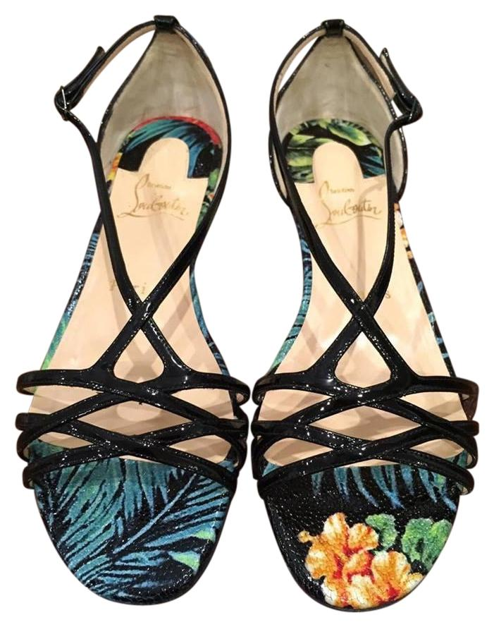 Christian Louboutin Olydia Strappy Gladiator Hawaii black Sandals