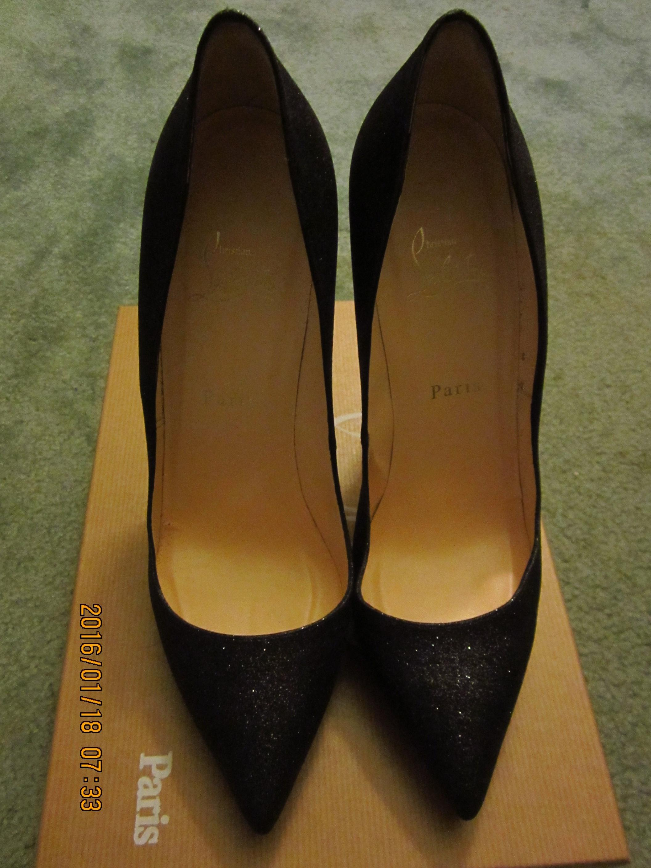 Christian Louboutin Paris Heels Rare Black Pumps