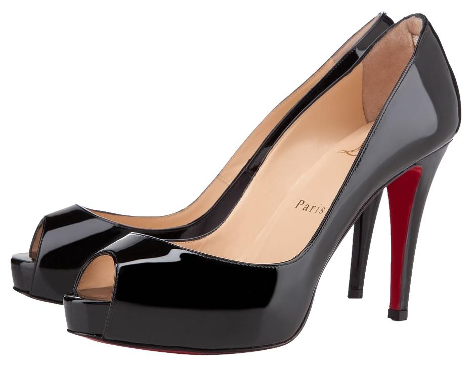 Christian Louboutin Patent Black Very Prive Pumps Size US 5.5 Regular (M, B)