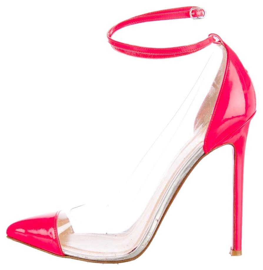 Christian Louboutin Hot Pink Patent Leather Bis Un Bout Pointed ...