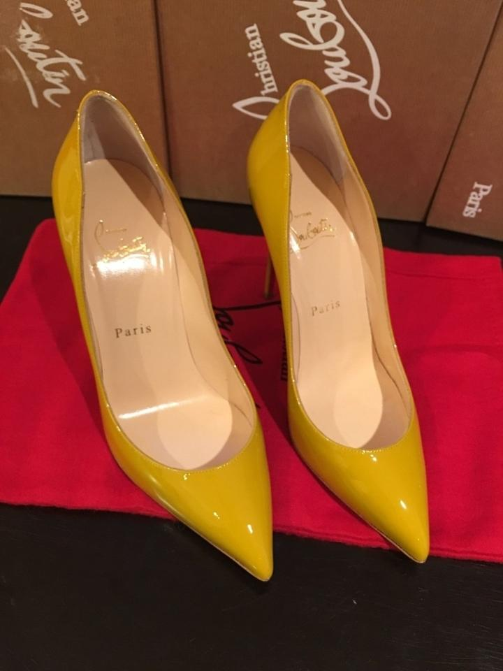 35f44c293cc Christian Louboutin Nib Size 38 Patent Leather Pigalle Follies Yellow  Moutarde Pumps