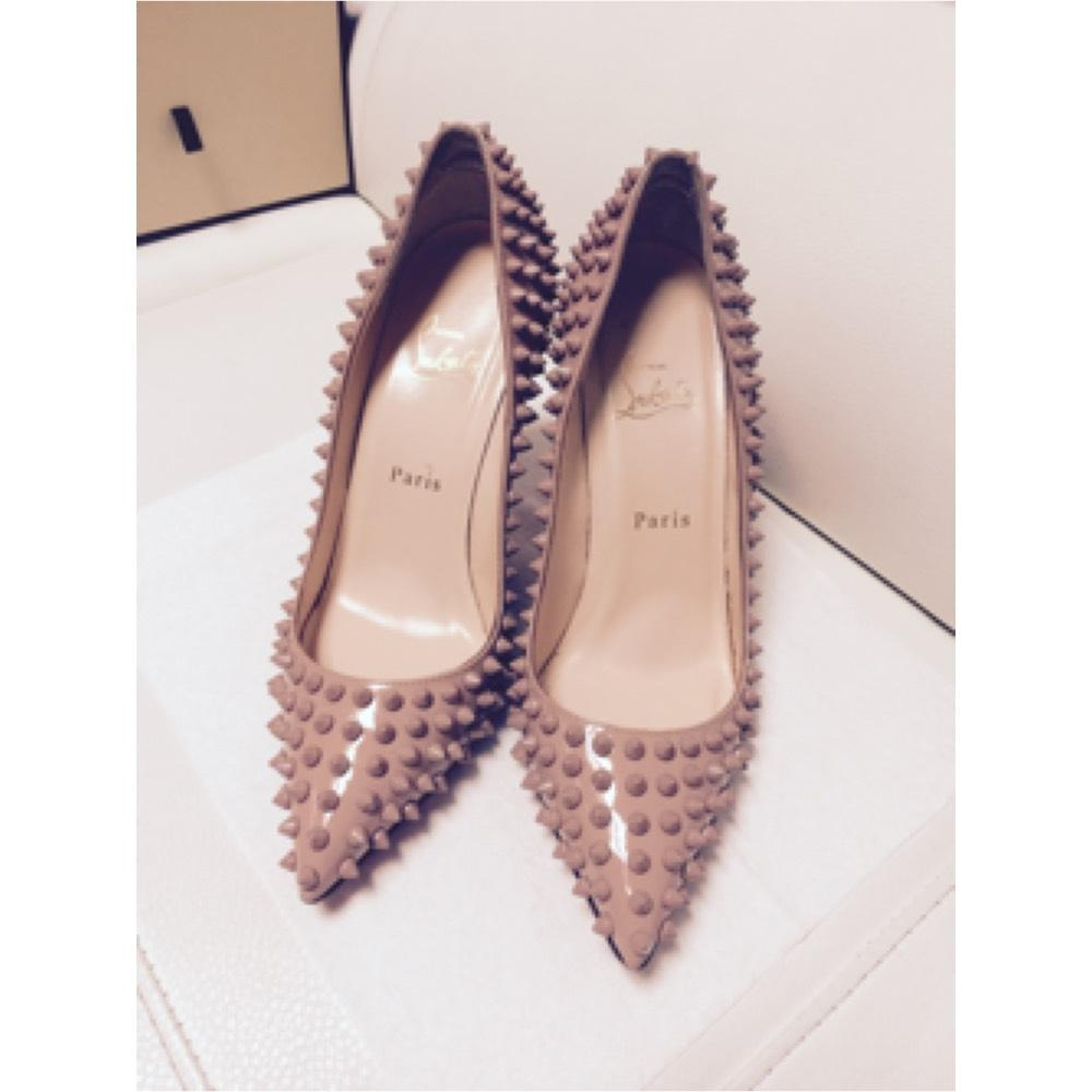 0c98609b7812 ... B Christian Louboutin Pigalle Pigalle Pigalle Nude Spikes Pumps Size US  8 Regular (M