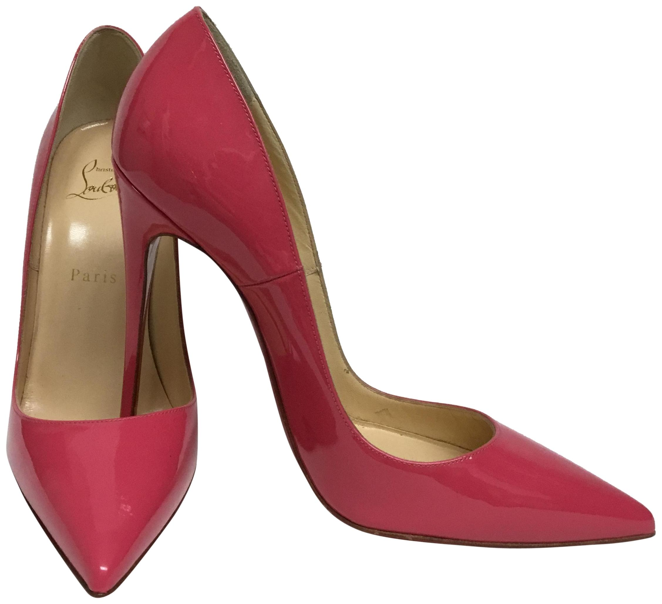 f35ec687859c Men s Women s   Christian Christian Christian Louboutin Pink Patent Leather  So Kate Pumps Size EU