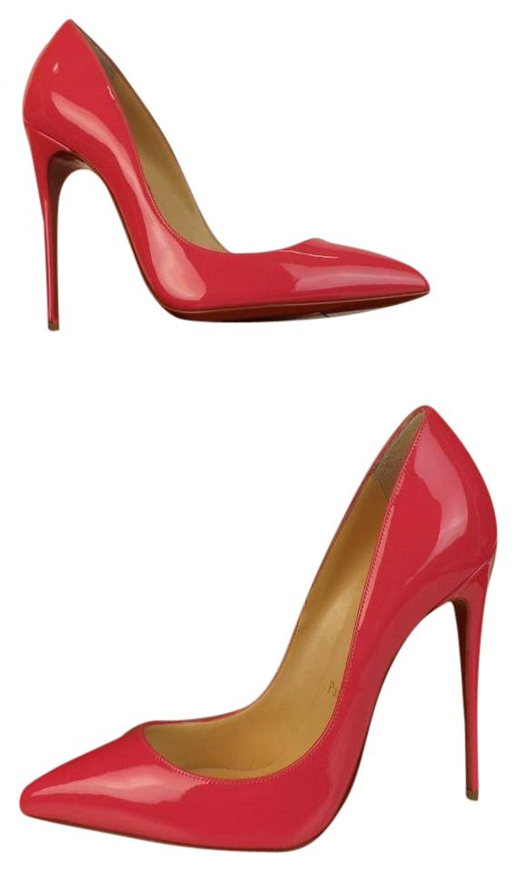Christian Louboutin Pink Pigalle Follies 120 Patent Leather Classic 7 Pumps Size EU 37.5 (Approx. US 7.5) Regular (M, B)