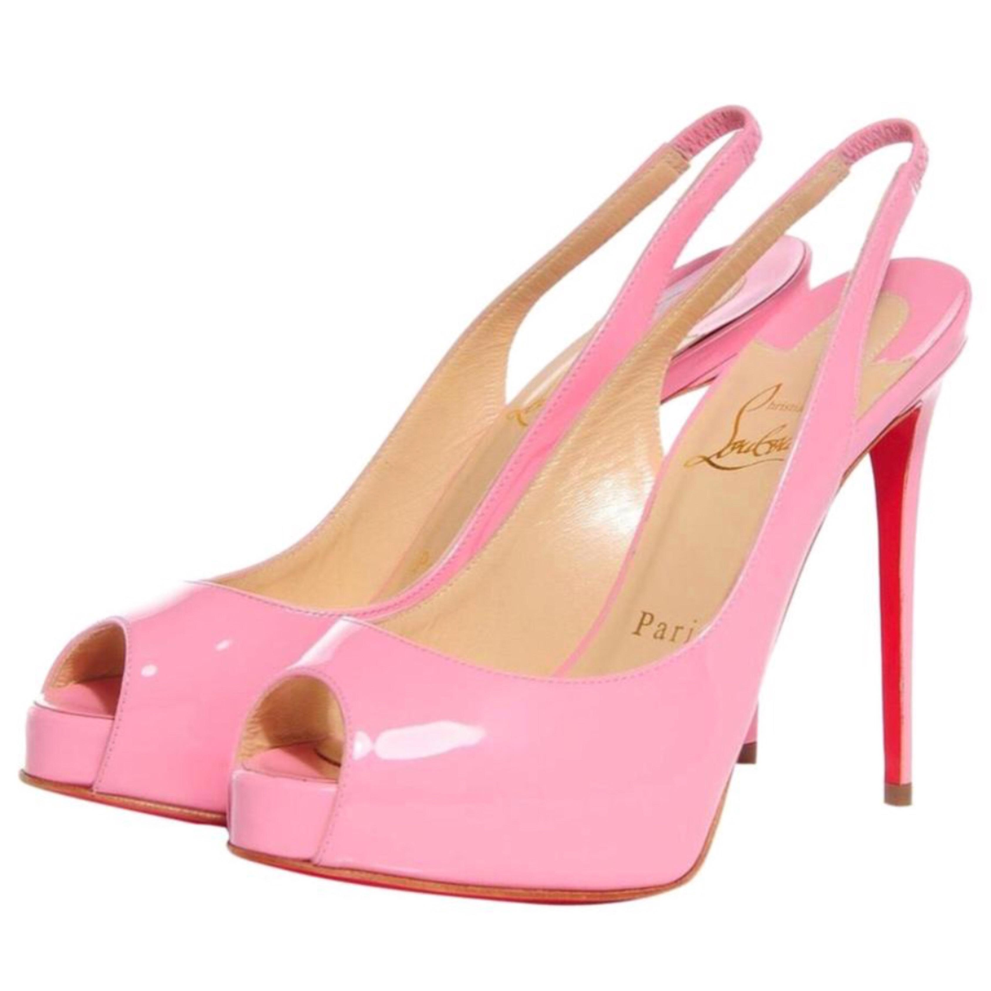 223d7dc13c3 Christian Louboutin Pink Private Number 120mm Patent Patent Patent ...