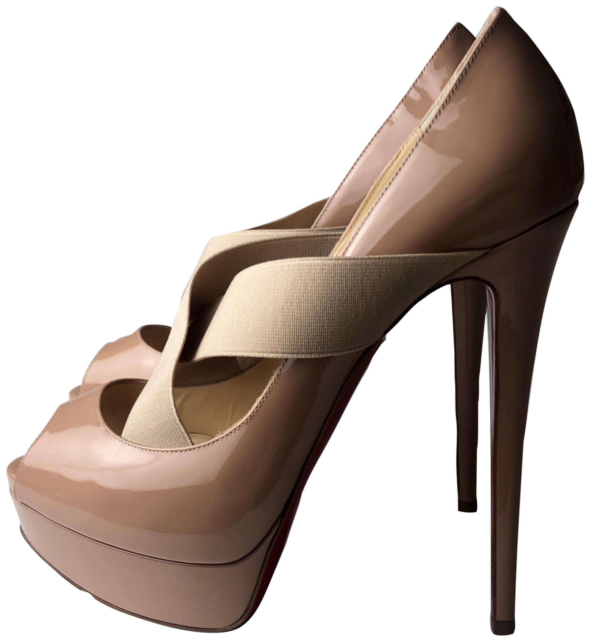 Christian Louboutin Nude Very Stagram 150 Patent Leather Pumps Size EU 40.5 (Approx. US 10.5) Regular (M, B)