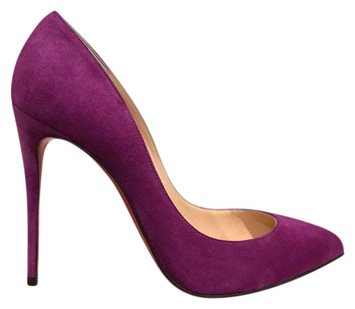 Christian Louboutin Purple Pigalle Follies 100 Cassis Suede Heel 37 Pumps Size US 7 Regular (M, B)