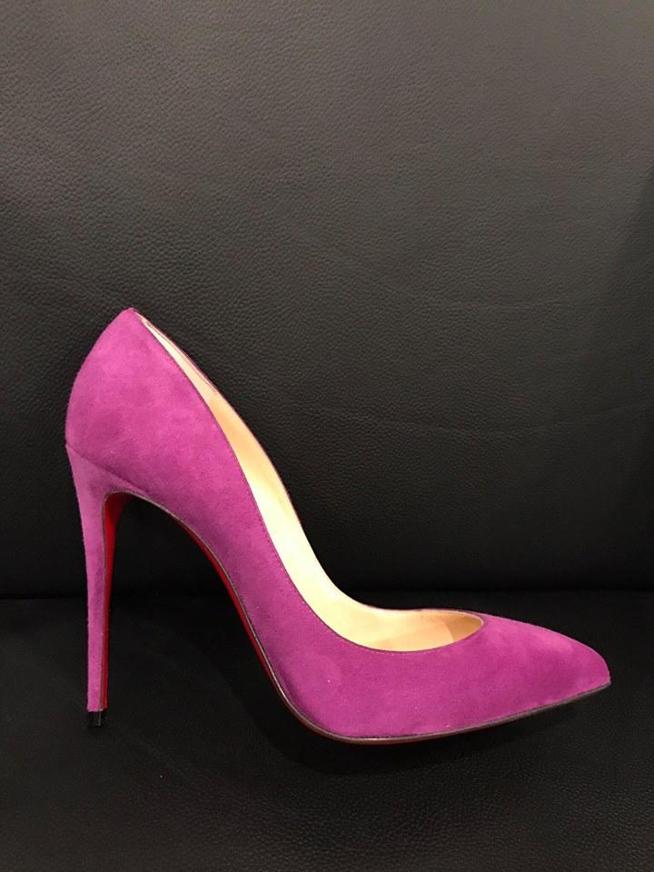 d8ce614d6a46 ... Christian Louboutin Purple Pigalle Follies 100 Cassis Suede Heel 37 37  37 Pumps Size US 7 ...