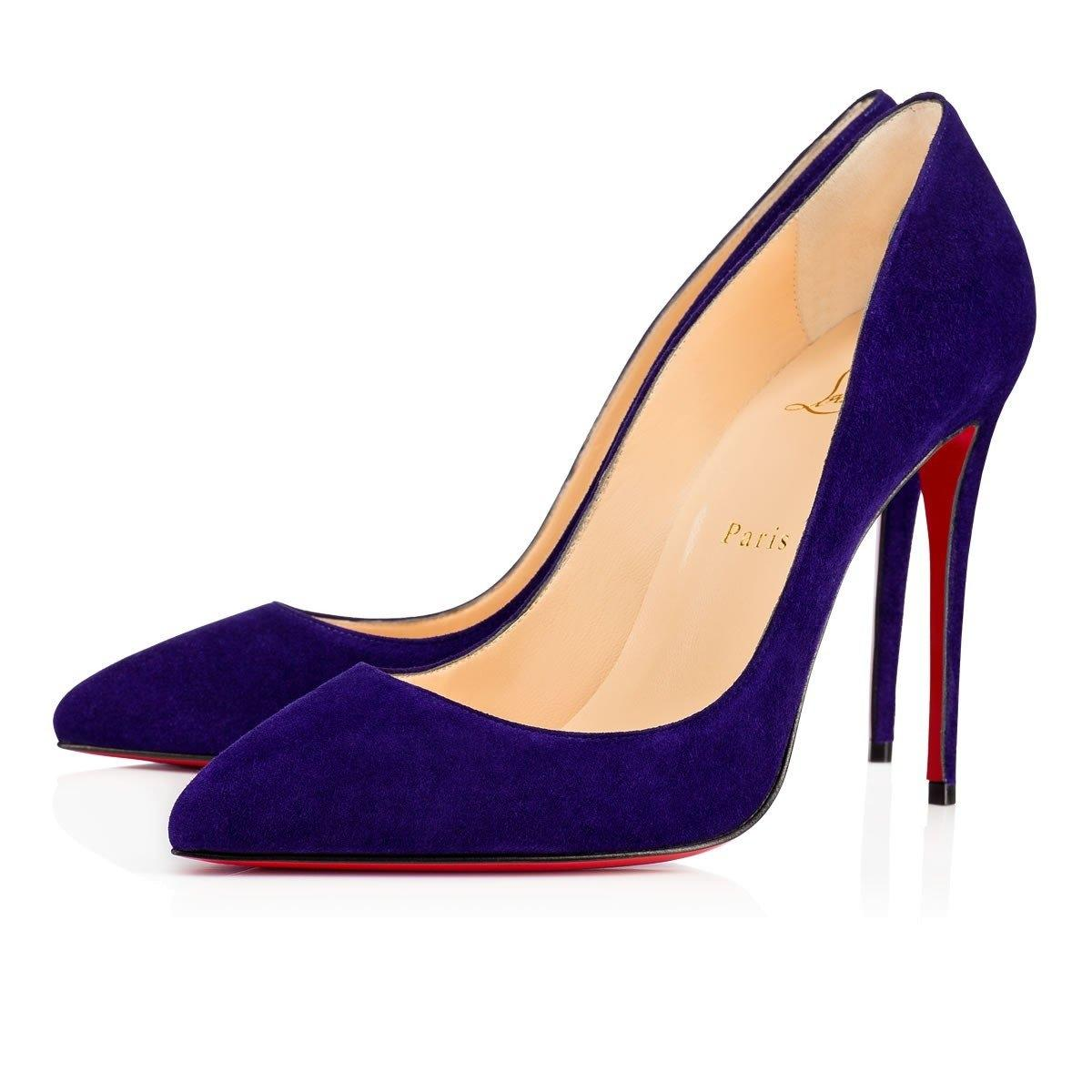 Christian Louboutin Pigalle Follies Stiletto Classic Suede purple Pumps ...