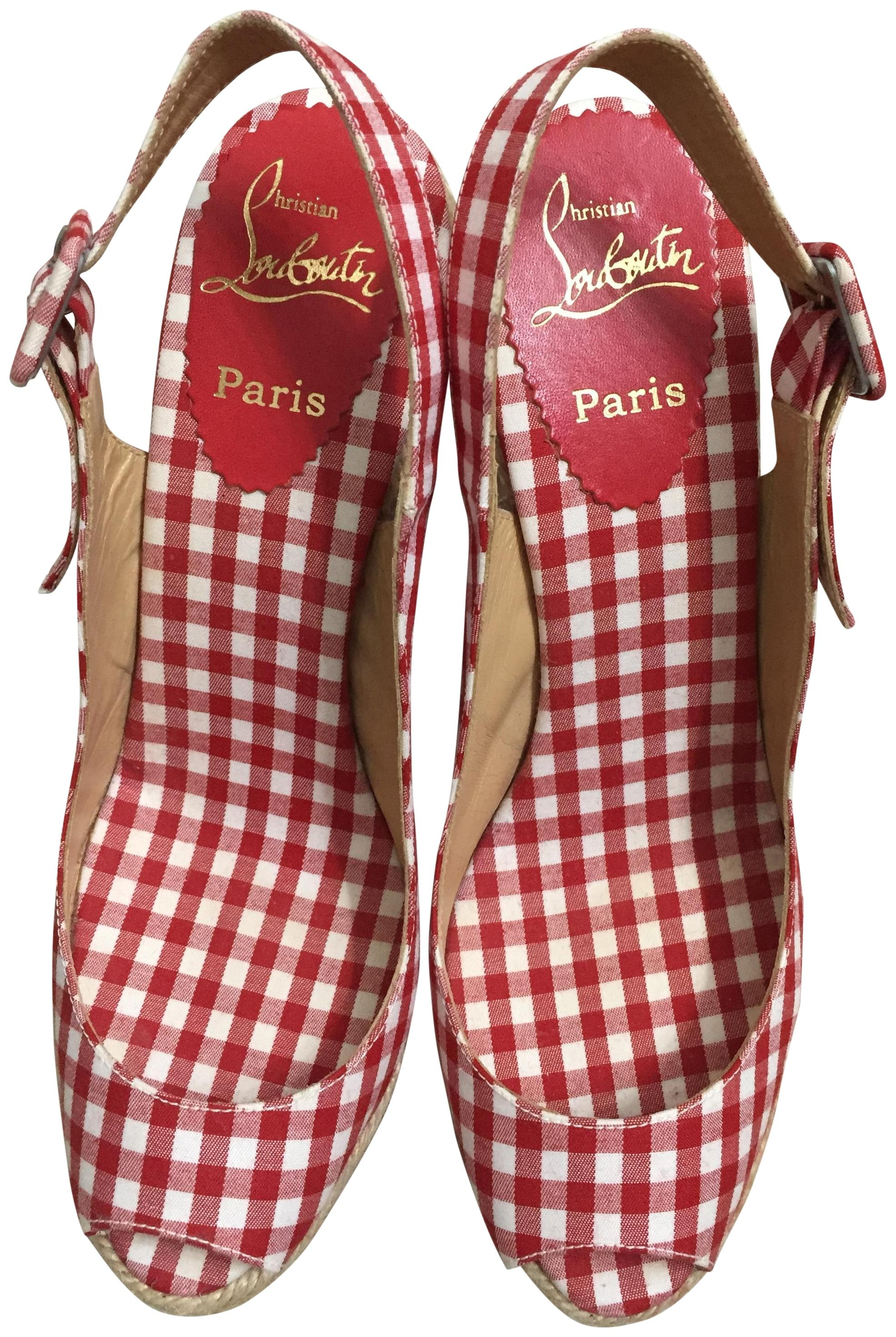 for nice for sale footaction for sale Christian Louboutin Mallorca Gingham Espadrilles limited edition for sale JlqTQr
