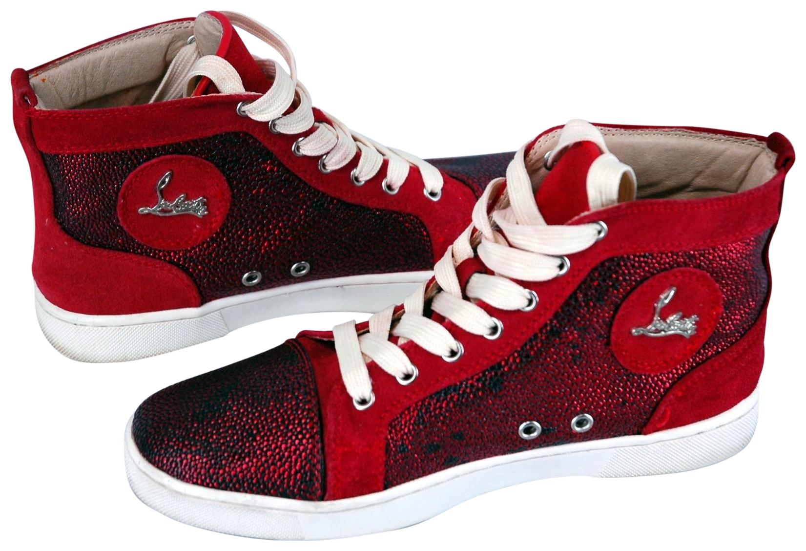 a34aa19e01c6 ... best price christian louboutin sneaker bip bip orlato high sneaker red  athletic a1af5 cccb0 clearance christian louboutin sneakers shoes men ...