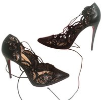 Christian Louboutin Red Bottom Laser Cut Black Pumps