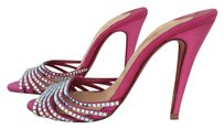 Christian Louboutin Red Bottoms Crystal Strass Evening Pink Mules