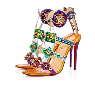 Christian Louboutin Red Bottoms Louboutins multi Sandals