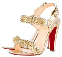 Christian Louboutin Red Bottoms Spiked gold Sandals