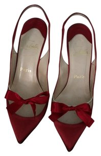 Christian Louboutin Bow Red Pumps