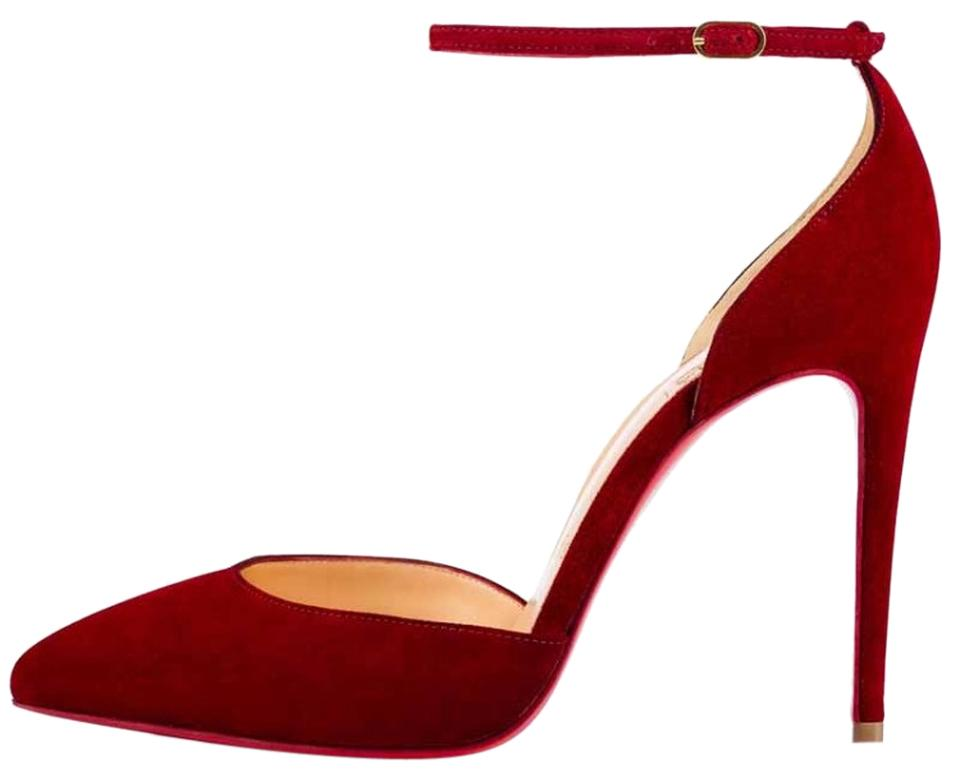 3acf25f584a7 Christian Louboutin Red Uptown Carmin Suede Stiletto Pumps Size Size Size  EU 40 (Approx. US 10) Regular (M