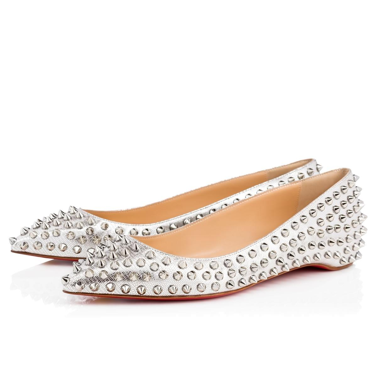 wholesale dealer b276b 95d3f Christian Louboutin Silver Follies Follies Follies Spikes ...
